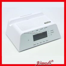 Denmark Hi-fi Home/office/hotel/car bluetooth usb alarm clock speaker with 2 channals