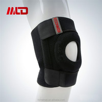 2015 Hot Football Basketball Volleyball Black Durable Elastic Knee Support With OEM Service