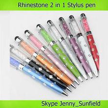Rhinestone wholesale stylus pen for ipad iphone smart phone