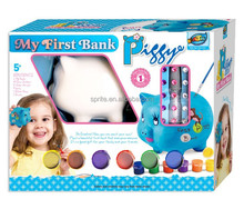 DIY Paint Piggy Bank Set Nontoxic Kid Arts and Crafts Box Packing