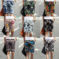 10 Pattern Men's New Exotic Soft Linen Lightweigt Mid Pants Casual Travel Shorts