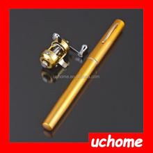UCHOME Pocket Pen Fishing Rod Pole + Reel Sea Fishing Rods Tackle Tool