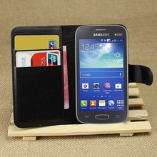 Flip PU Leather Wallet Cover Case For Samsung Galaxy Ace 3