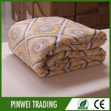 factory direct jacquard satin adult king 2 ply mink blanket gold excel