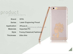 2015 Latest Proud Series Ultra thin PC Mobile Phone protective case for iPhone 6 4.7 inch laser engraving Cell Phone cover