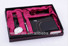 Watch Gift Set Include Watch+Pen+Key Chain+Purse GFAA8024