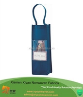 New Products NON WOVEN BOTTLE BAG FOR WINE, CHAMPAGNE GIFT WITH VIEWING WINDOW Single Bottle Wine Tote - made in china