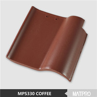 china curved glazed ceramic decorative concrete roof tile price