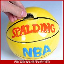 High Quality money box wholesales/Basketball Shape Money Saving Box