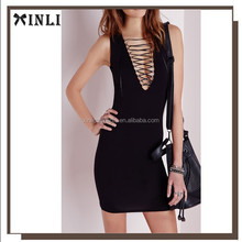 Wholesale 2015 new collection design black one piece girls party dress