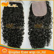 """brazilian human hair curly silk top lace closure 3.5""""x4,4""""x4"""",4""""x5"""",5""""x5"""" in stock"""