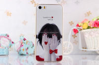 lovely girl soft 3d Sublimation cell phone case for iphone 5 5S ultra slim