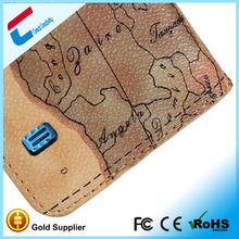 Latest map flip leather case for samsung s5
