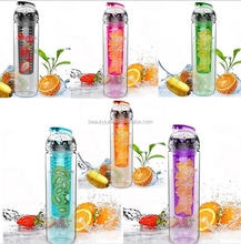 800ML Fruit Infusing Infuser Water Sports Lemon Juice Bottle Flip Lid Suitable kitchen table Camping travel outdoor application