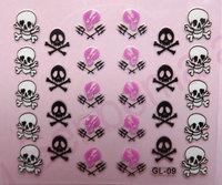 Themed Nail Decoration Skull Head Design Nail Sticker