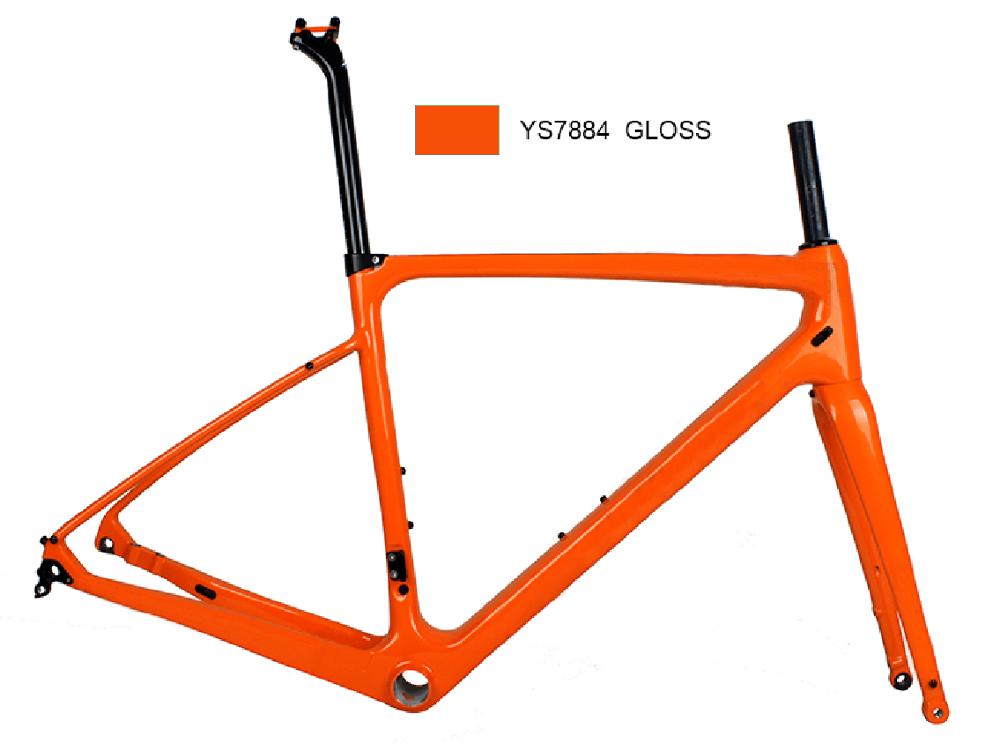 Carbonda Bike Custom Paint Carbon Fiber Cyclocross Bike Frame Disc ...