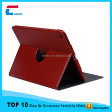 OEM manufacture flip stand smart leather cover case for ipad air with rotating function , best design for ipad air leather case
