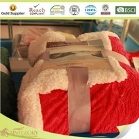 100% polyester sherpa blanket high quality and fashionable
