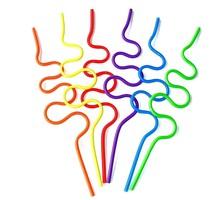 Disposable Plastic Colorful Crazy Straws