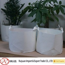 Alibaba wholesale easy carrying felt grow bags,felt planting bag for gardening