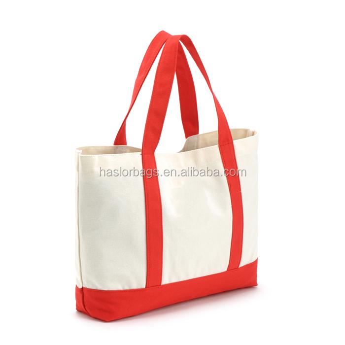 Handled fashion custom cotton canvas shopping tote bag