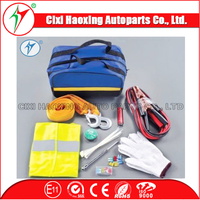 China manufacturer vehicle tools car emergency tool kits with warning triangle