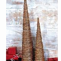 RH-YF43 Christmas Decoration natural rattan ornament cone shape tree