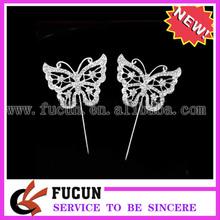 mariposa adorno de torta diamonte de cristal de diamante deimitación bling