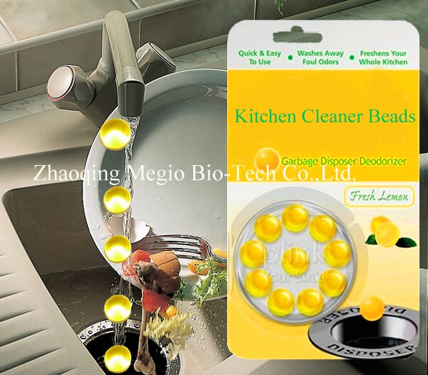 Kitchen Cleaner and deodorizer Beads for Sink and Drain