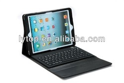 Laptop Hot Bluetooth Portable Keyboard Case for iPad Air With Silicone Keyboard