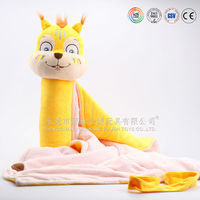 ICTI audits OEM/ODM customize animal head plush baby blanket,blanket baby