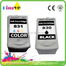 printer empty Ink Cartridge pg830 cl831 for Canon printer PIXMA IP1180 chip reset
