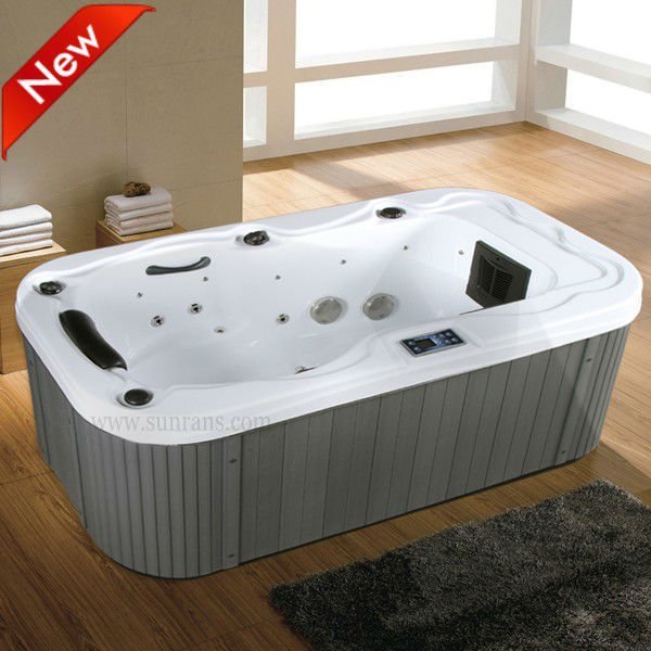 Mini indoor outdoor whirlpool air jet massage spa hot tub for Small hot tubs for small spaces
