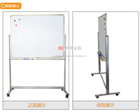 Double sides magnetic mobile whiteboard with wheels grid magnetic whiteboard