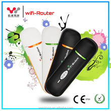 14.4Mbps Unlock wireless dongle 3g wifi router with sim card slot