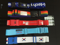 China direct custom strong retractable luggage belt with name tag wholesale
