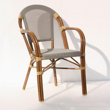 rattan cafe chair aluminum frame bistro bamboo look chair aluminum bistro chair