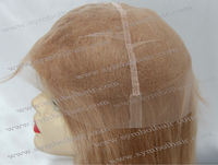 """20"""" 12# Chinese virgin remy 8*9 human hair piece"""