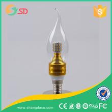 China led bulb lamp best quality 3w led candle bulb e14