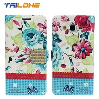 funky flower leather flip cover mobile phone case for girls for samsung, for iphone