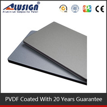 Alusign wall decoration panel PVDF coated ACP mirror indoor stone wall panels