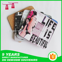 Promotional Adverstising Table mat Cork Coaster Wooden Coaster MDF Coaster