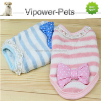 Wholesale Flannel Dog Clothes Fashion Lace Pet Clothes Small Pet Dog Sweater Free Shipping