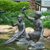 Outdoor Garden Cast Bronze Children Statue