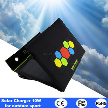 Amazing Fast Charging Solar Panel Charger for Outdoor Sport Waterfroof Solar Charger power bank 10W