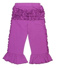 Wholesale Plum Ruffled Comfy-Pants for kids