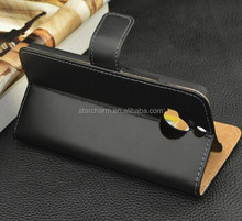 Luxury Genuine Leather Flip Mobile Phone Cover Case for HTC ONE M9 PLUS