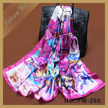 Hot Silk Square Scarf Fashion Office Ladies Tie Scarf Cheap Promotional Scarf