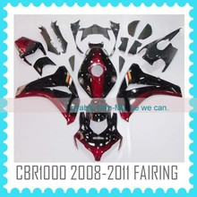 ABS Motorcycle Fairing For HONDA CBR1000RR 2008 2009 2010 2011 BLACK RED