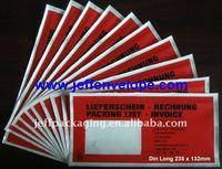 Packing List Envelope Waybill Pouch